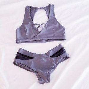 Mademoiselle Spin Polewear Grey Metallic Set